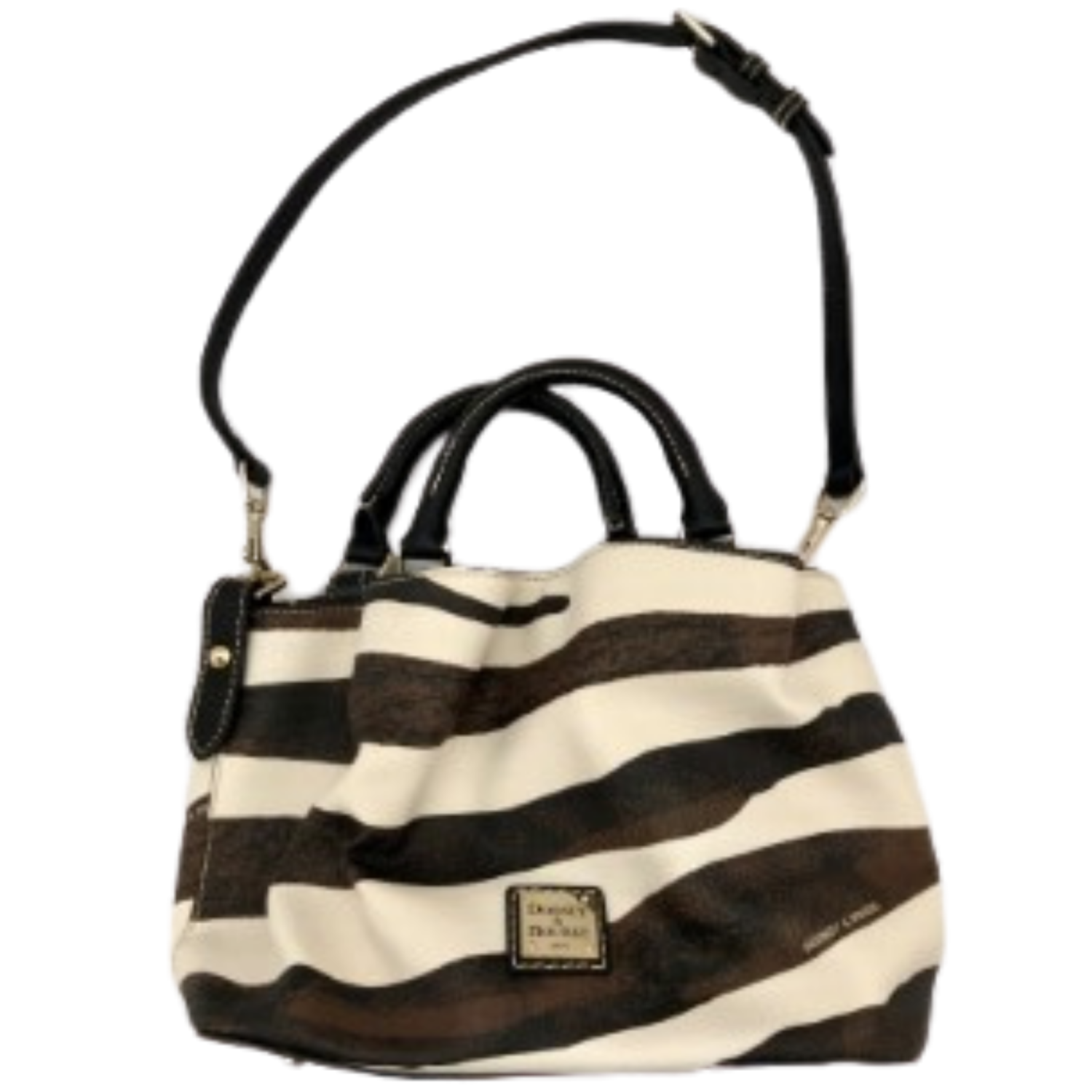 Zebra Patterned Dooney & Bourke Handbag