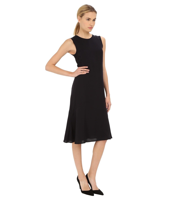 "Gorgeous Brand New with Tags 100% Silk Theory ""Raola"" Dress Classic Khaki Women's 4"