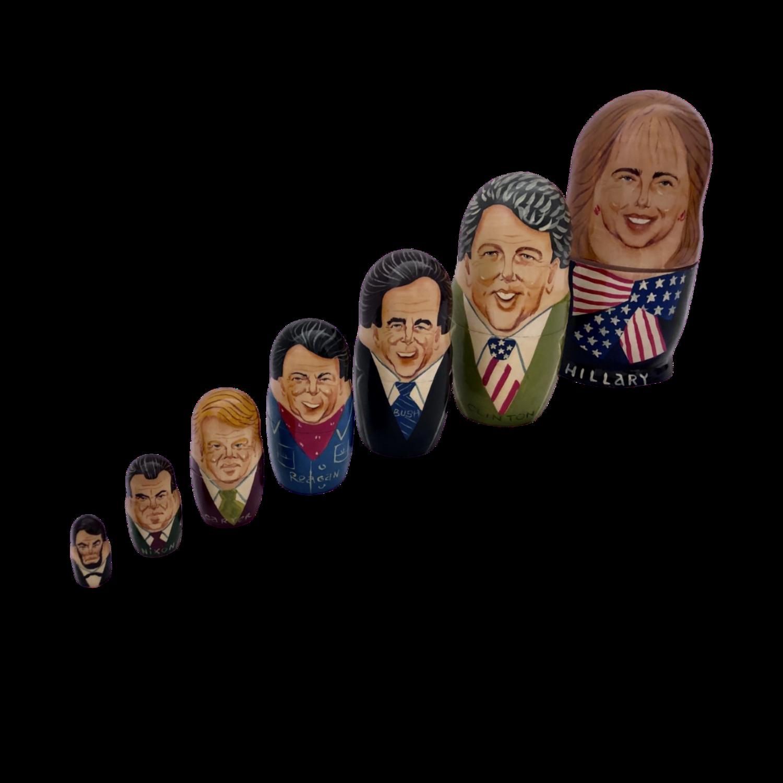 Set of 7 Hand-Painted Nesting Dolls