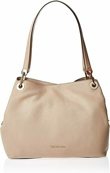 Michael Kors Raven Pebble Leather Tote Soft Pink/Gold