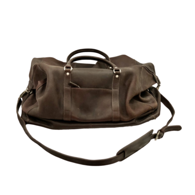 M LONDON Gorgeous Dark Brown Leather Travel Bag