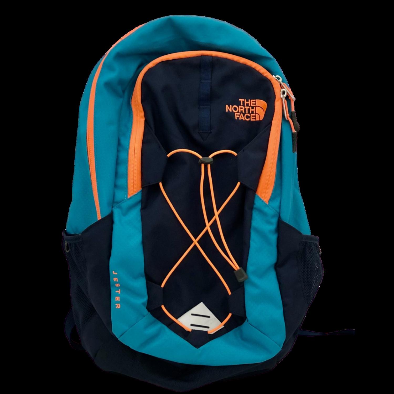 The North Face Jester Teal/Navy/Orange Flexvent Backpack