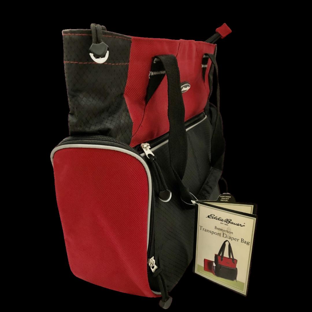 Eddie Bauer Bremerton Transport Diaper Bag Red/Black