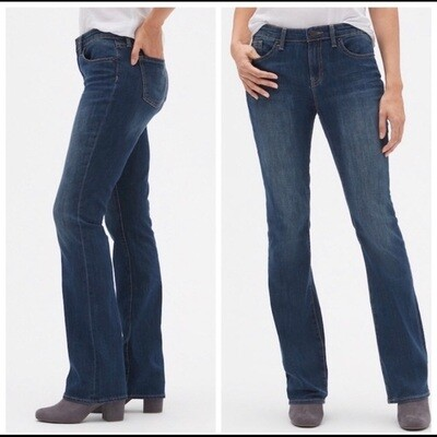 Gap 1969 Dark Wash Mid-Rise Stretch Perfect Bootcut Jean Women's 27/4R