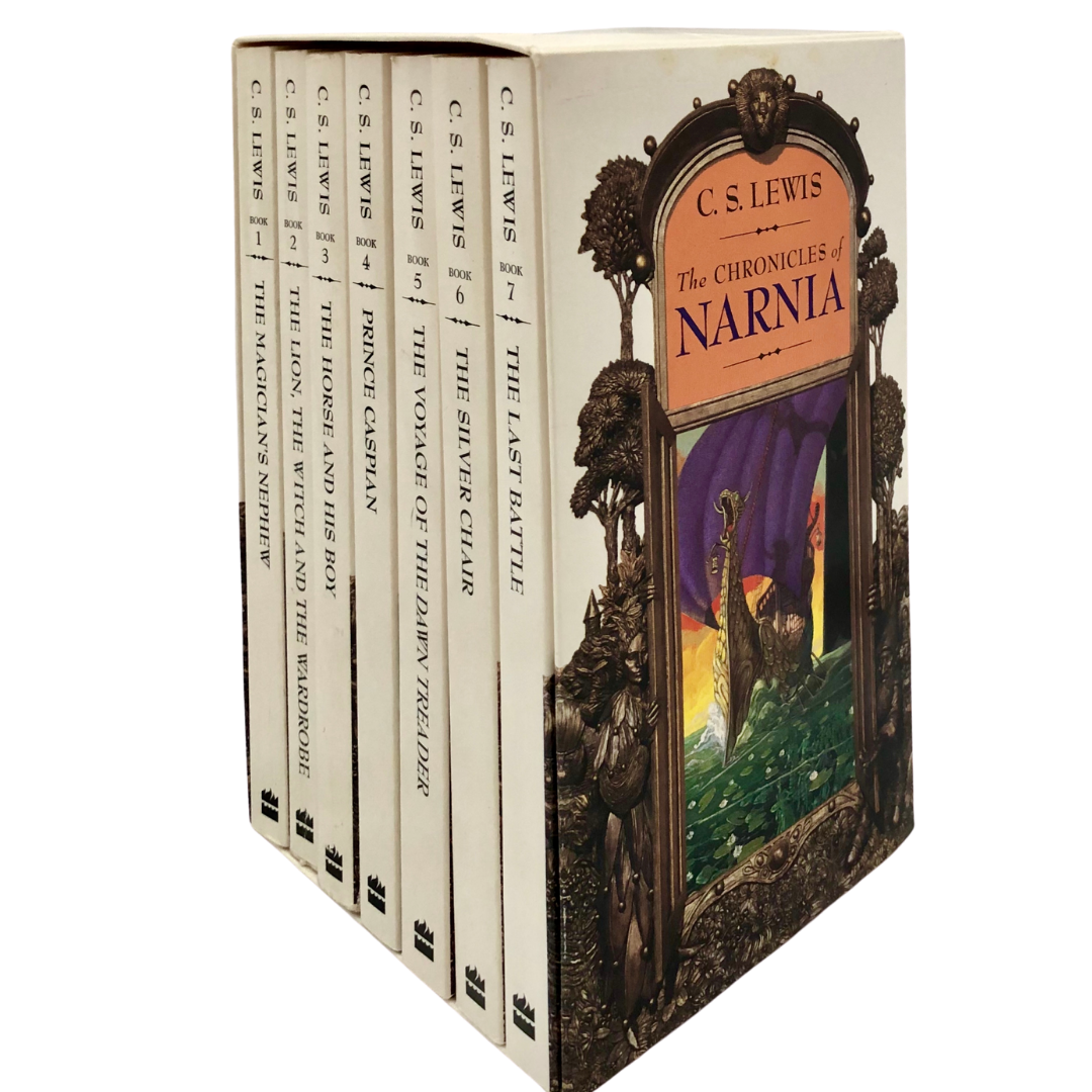 The Chronicles of Narnia 7 Book Series Boxed Gift Set C.S. Lewis Copyright 1994 by HarperCollins Publishers