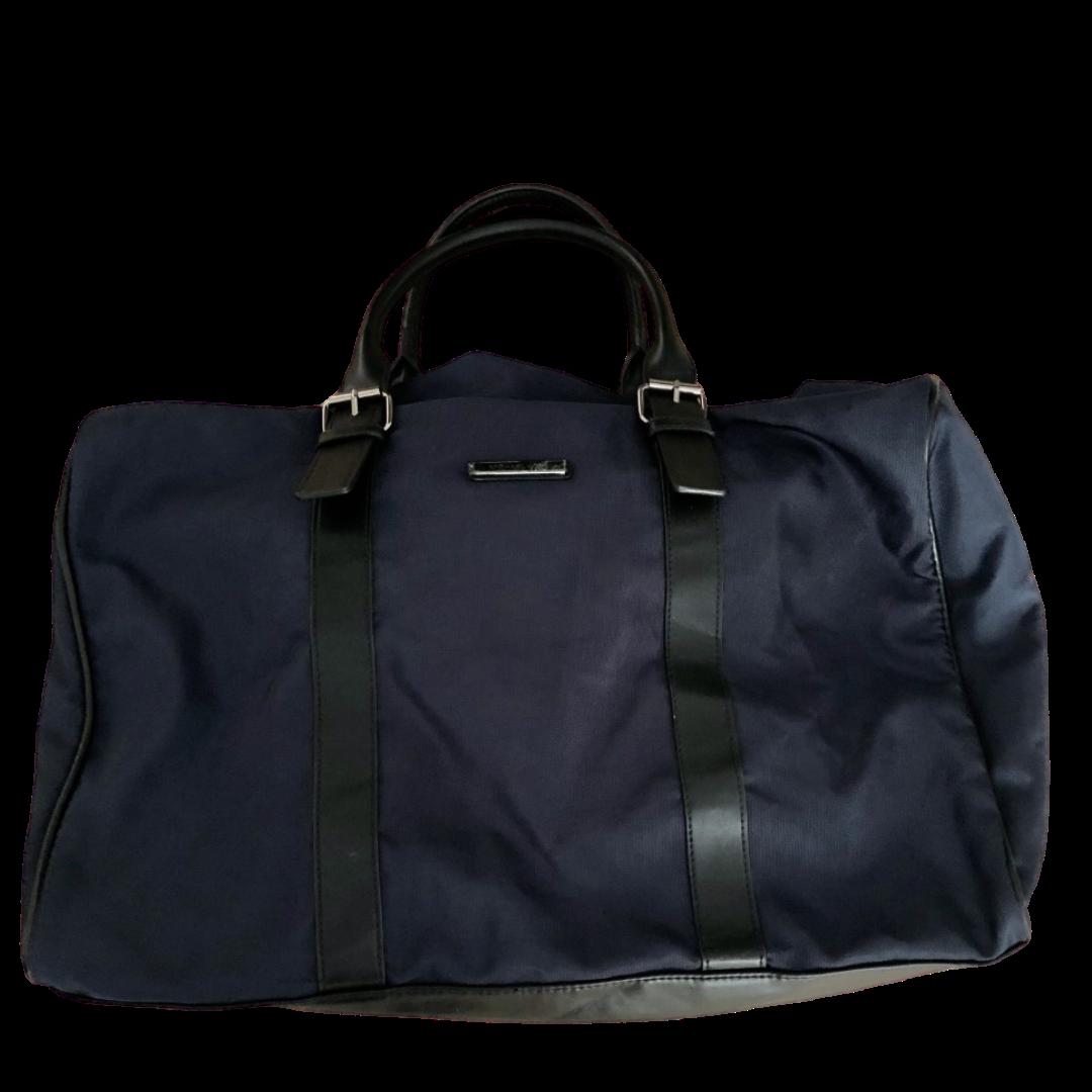 Michael Kors Extra Large Navy with Black Trim Duffle Bag