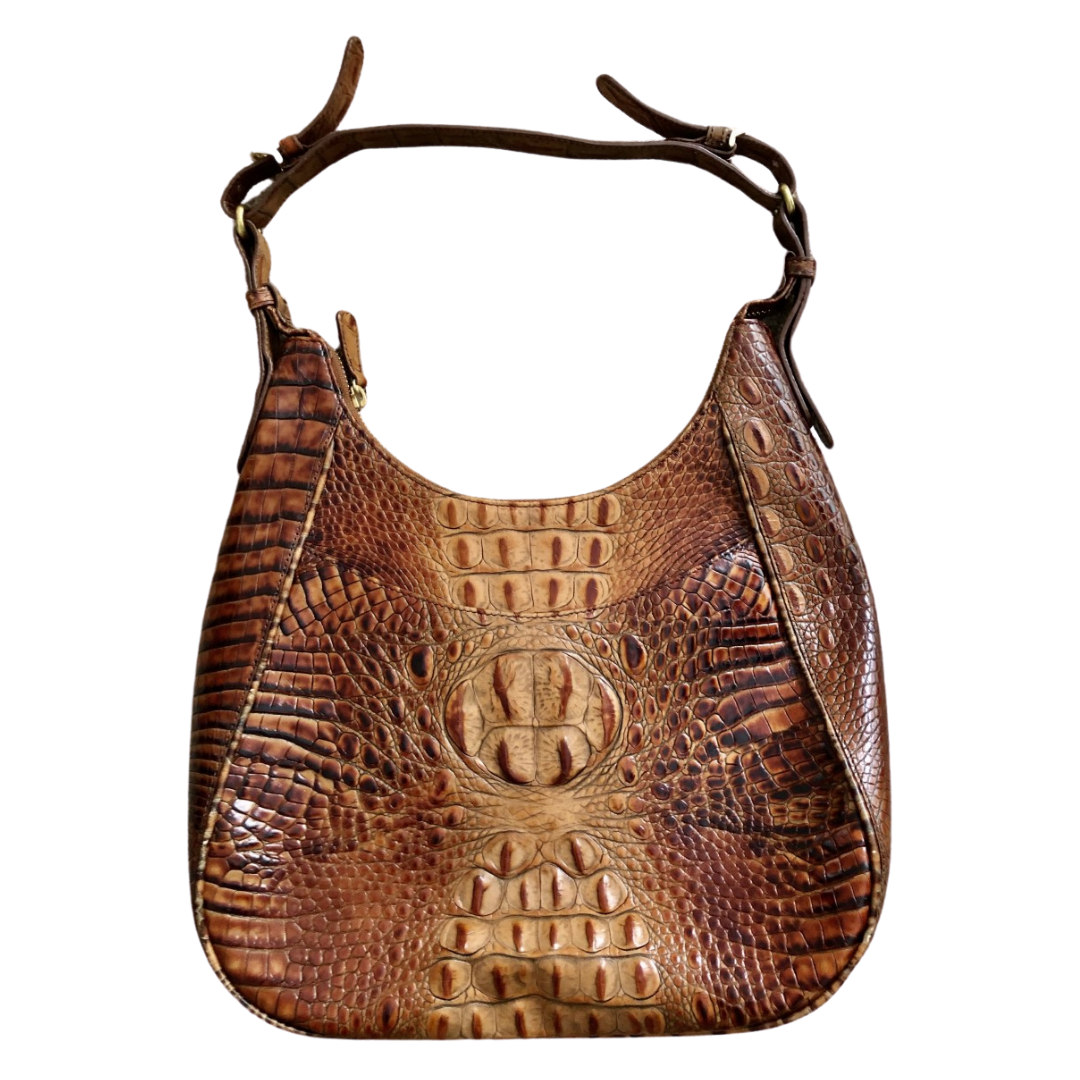 Brahmin Handcrafted Italian Leather Reptile Embossed Purse