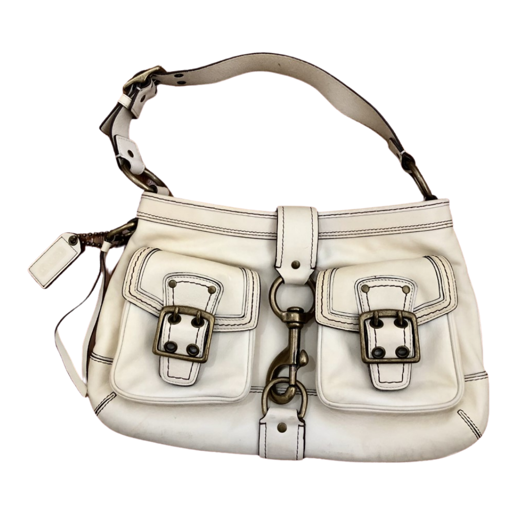 COACH Vintage Genuine Leather Beautiful French Vanilla White Purse 7458