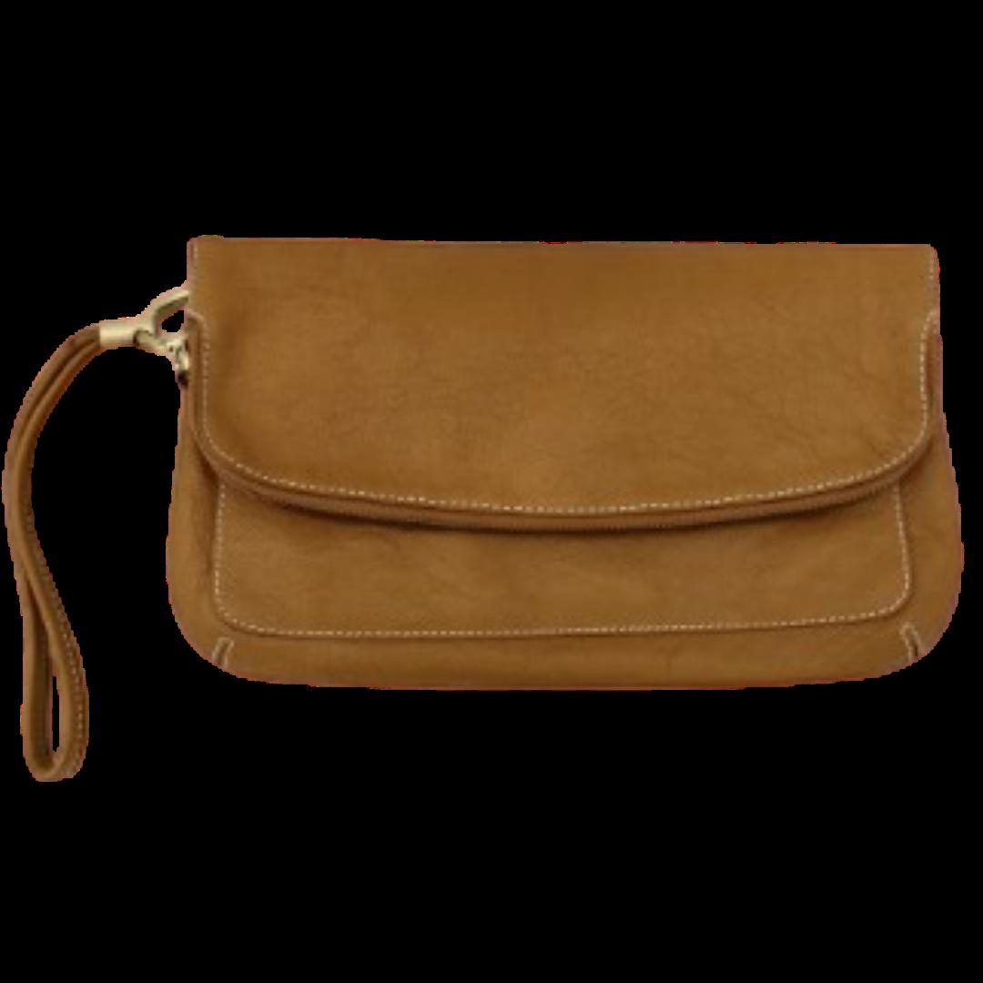 Talbots Leather Flip Open Clutch Purse