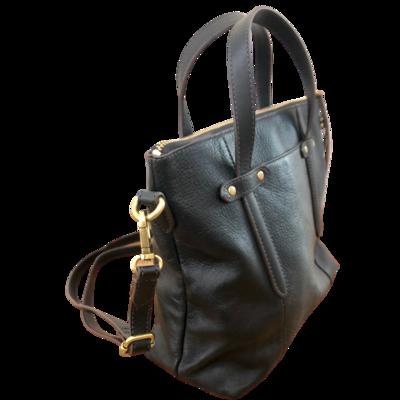 Fossil Black Leather Crossbody Handbag