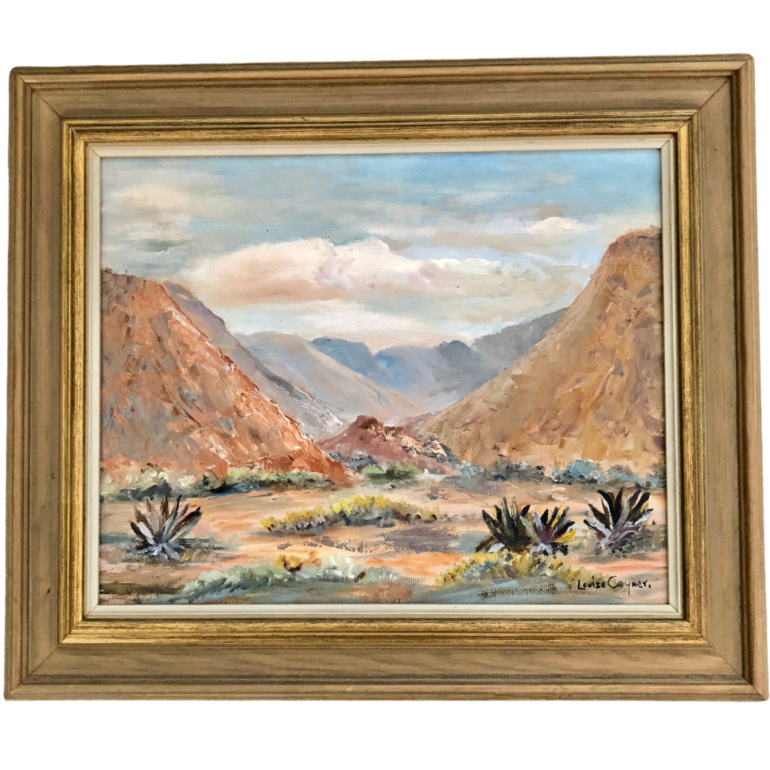 Landscape By Louise Conyer Oil Paint On Board With Custom Frame