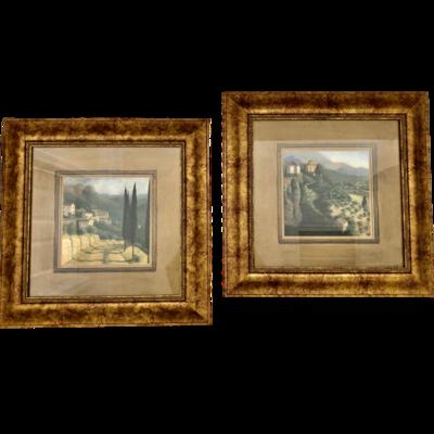 Framed Tuscan Landscape Wall Art Set Of Two