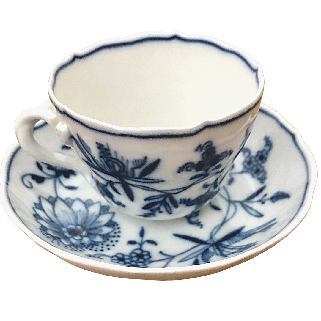 Meissen Teacup And Saucer Made In Germany