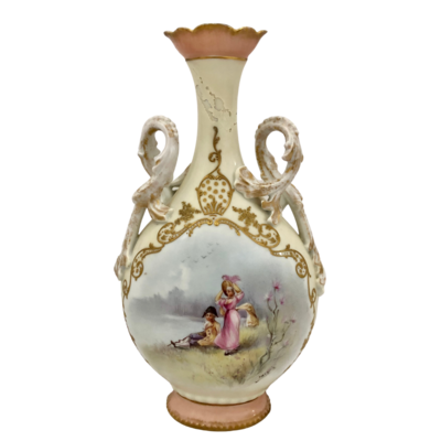Limoges Late 19th Century Hand-Painted Signed Vase