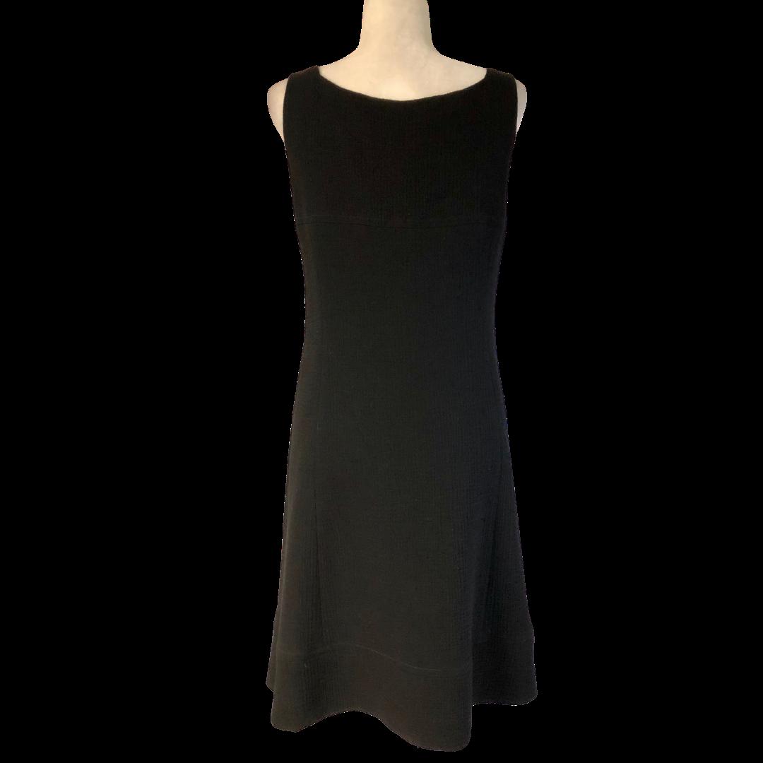 Armani Black Waffle Knit Lined Dress Women's 8