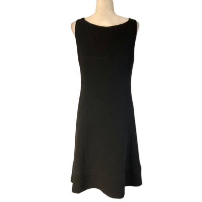Armani Black Waffle Knit Lined Dress Women's 8