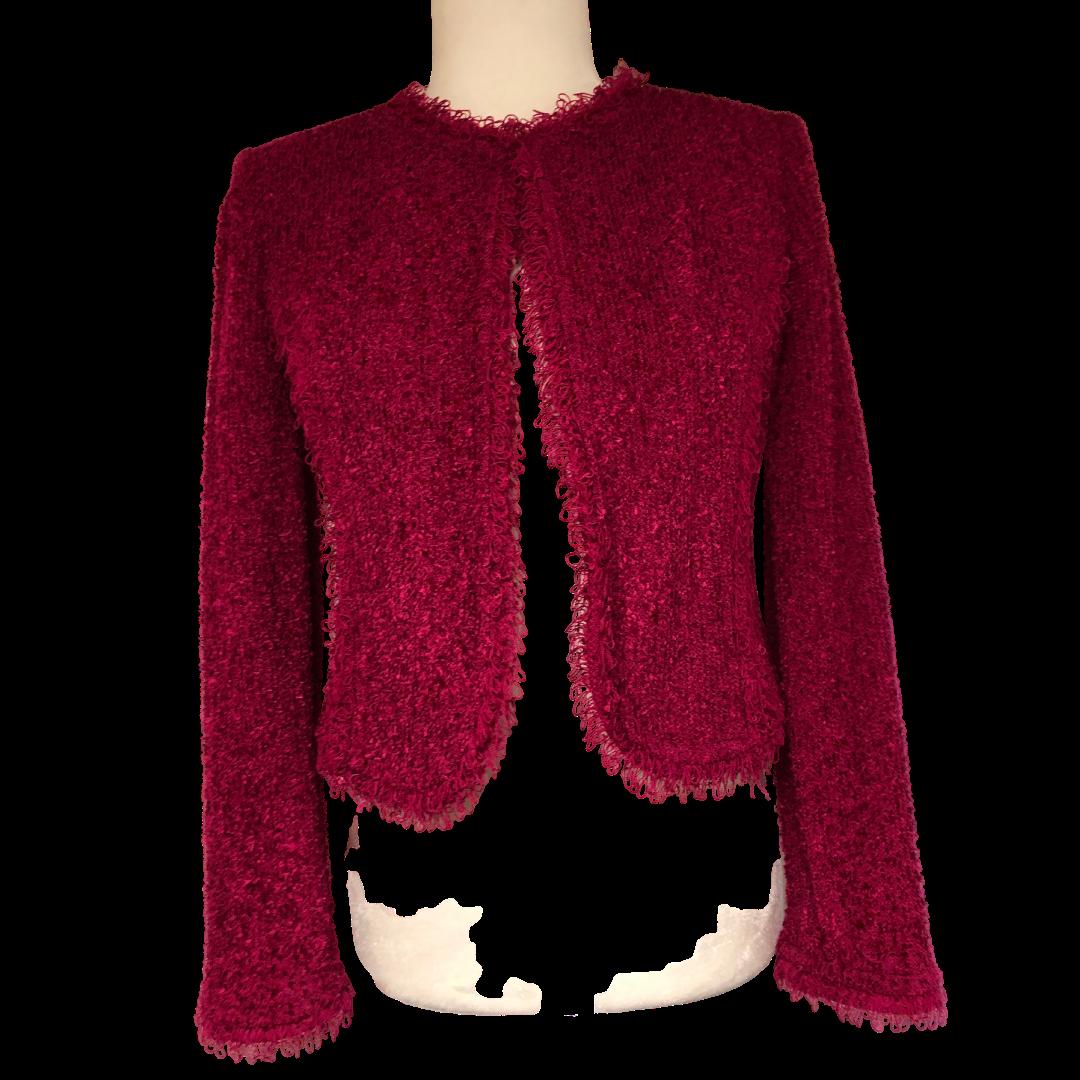 St. John Textured Fuchsia Bolero Jacket Women's 2