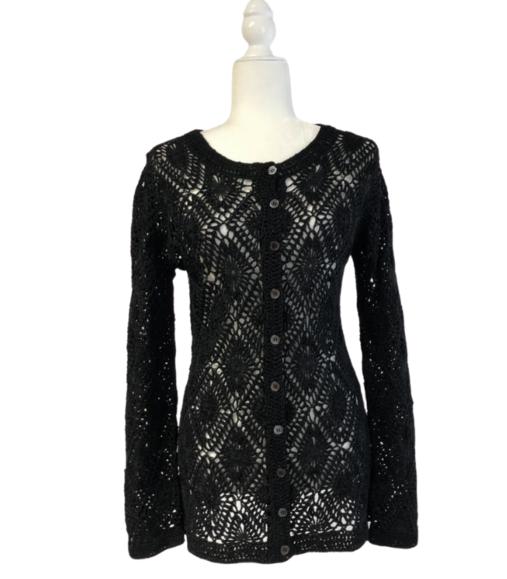 Doncaster Collection Black Lace Style #M177KC10 Women's Medium