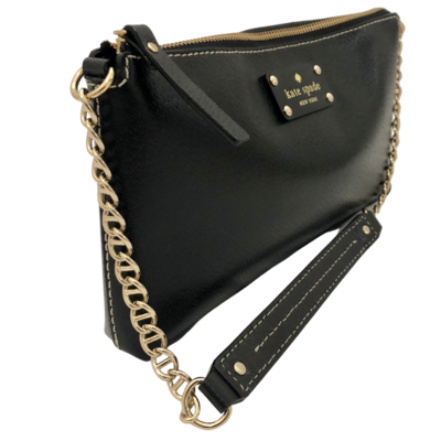 Kate Spade New York Black with Gold Chain Purse