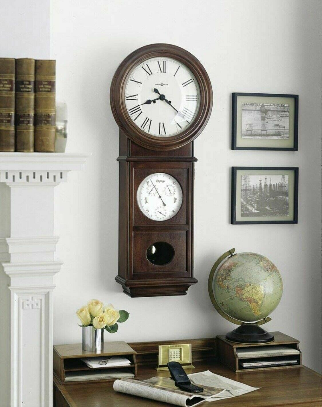 Howard Miller Lawyer ll Chiming Key Wound Mechanical Wall Clock 620-249