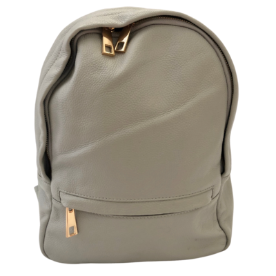 Clark & Madison Grey Leather Backpack Purse
