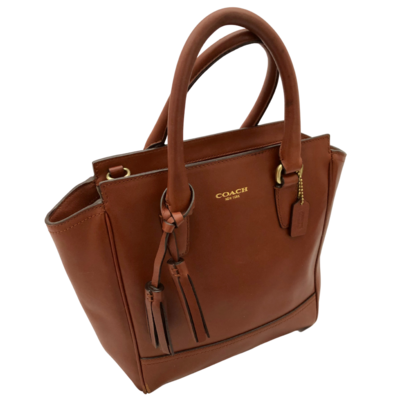 COACH Chestnut Handbag with Tassel