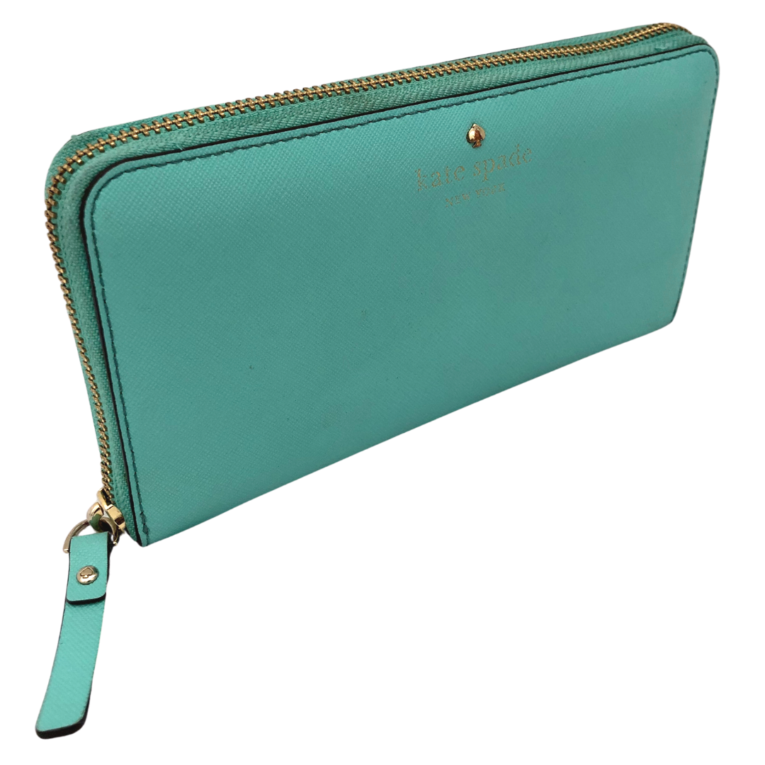 Kate Spade New York Aqua Wallet with Zipper Pull