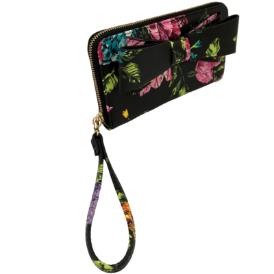 Betsey Johnson Floral with Big Bow Wristlet Wallet