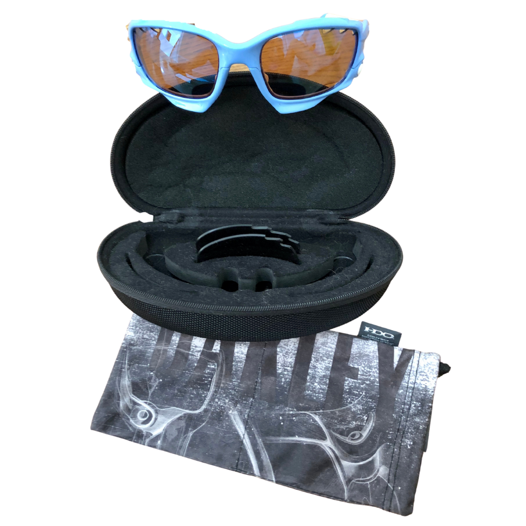 OAKLEY Light Blue Jawbone Sunglasses with 3 Vented Lenses & Accessories