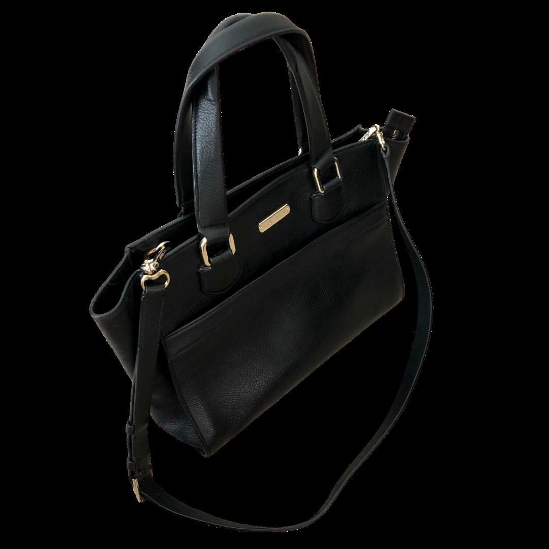 Cole Haan Black Handbag with Crossbody Shoulder Strap