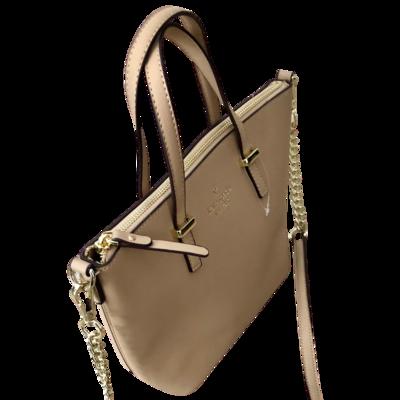 Kate Spade Champagne Handbag with Crossbody Shoulder Strap