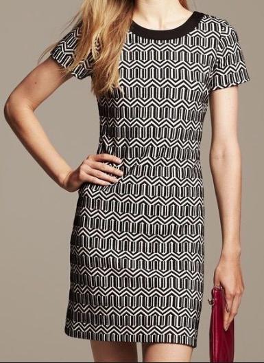 Banana Republic Knit Geometric Dress Women's 6