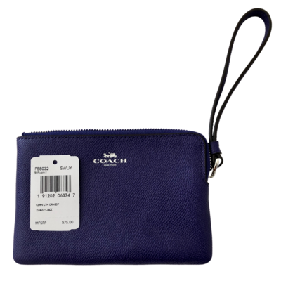 COACH Wristlet Wallet in Purple 9032