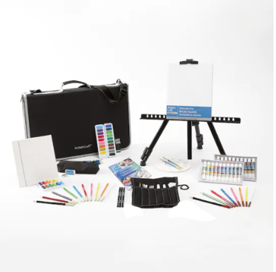 Artist's Loft Deluxe Easel Art Set with Travel Case