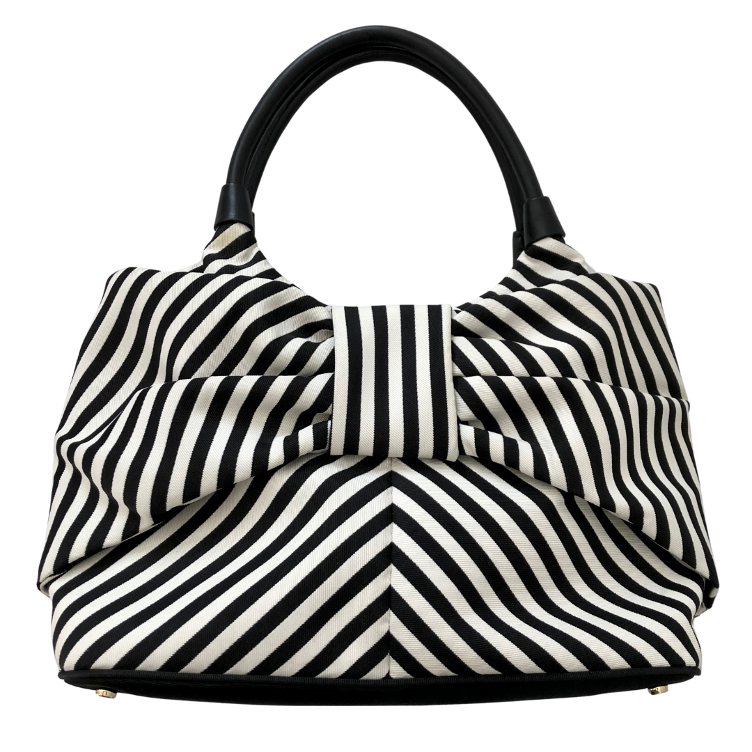 Kate Spade New York Black & White Striped Seaside Sutton Bow Bag