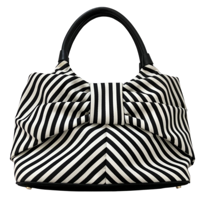 Kate Spade New York Black & White Striped Seaside Sutton Bow Bag