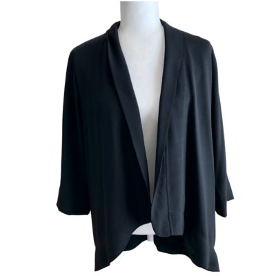 BCBG Generation Draped Cascading Open Front 3/4 Length Sleeve Cardigan Women's Small