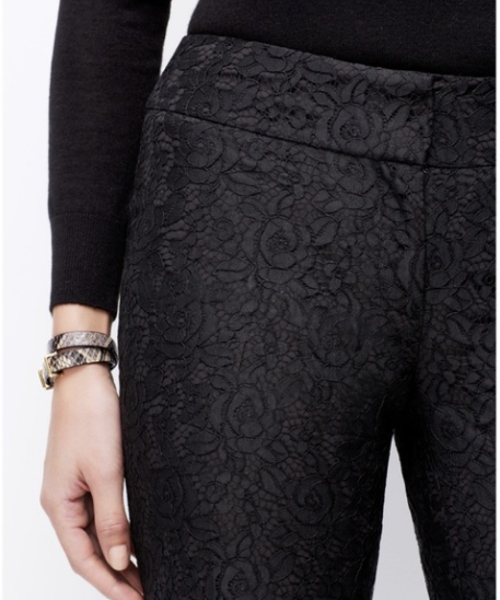 Ann Taylor Lace Fully Lined Pant Women's 4