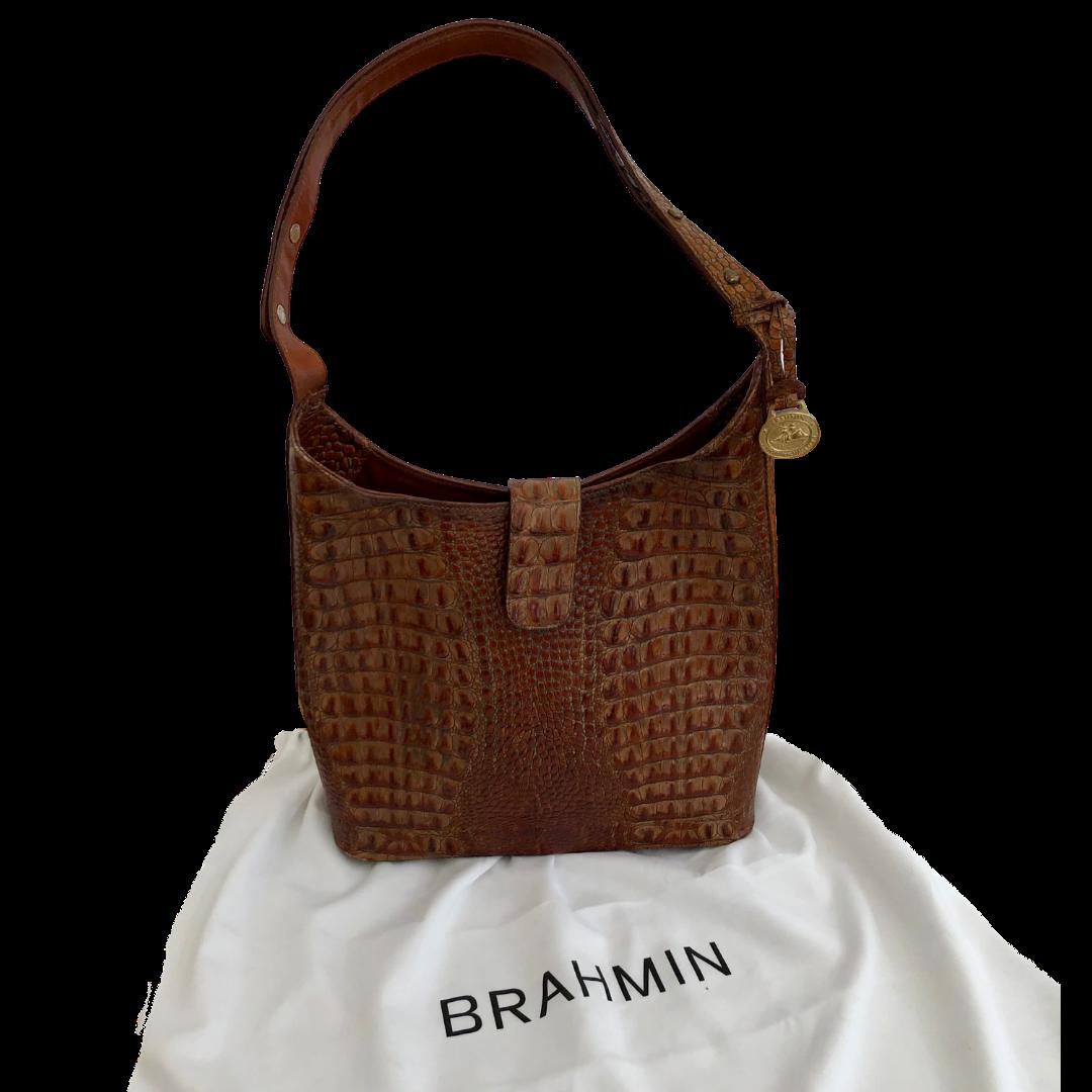 Brahmin Reptile Embossed Shoulder Bag