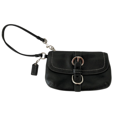 COACH Black Flap Closure Wristlet