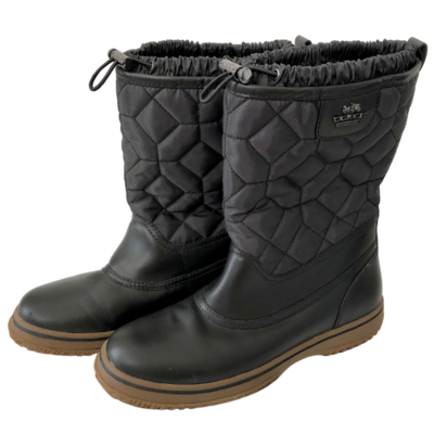 COACH Quilted Sparrow Cinch Boot Women's 8