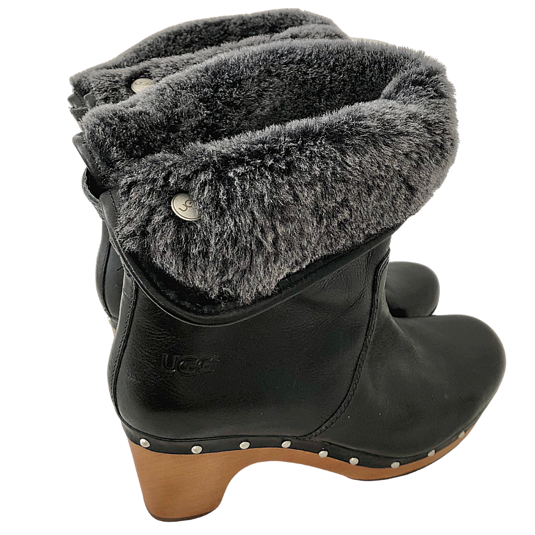 UGG Roll Down Fur Lined Lynne Boot Women's 7