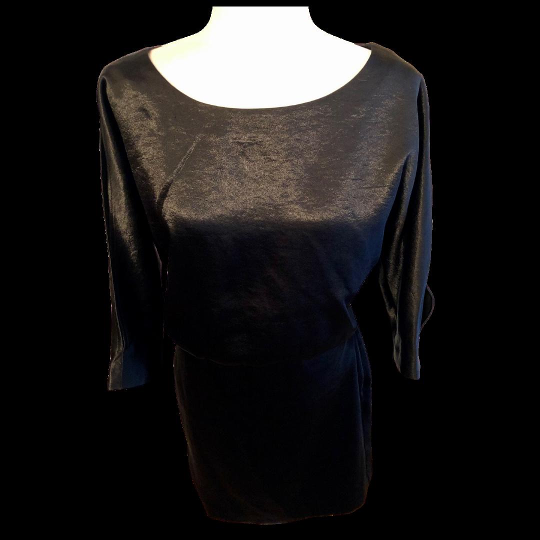 Banana Republic Scoop Neck with Slit Sleeve Shimmer Dress Women's 6