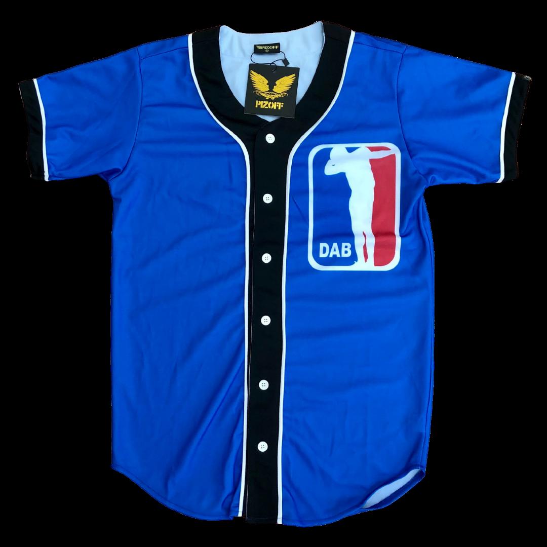 PIZOFF Unisex 3D Print Baseball Team Dab Jersey Shirt Men's Medium