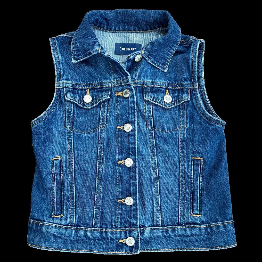 Old Navy Denim 4 Pocket Vest Youth Large