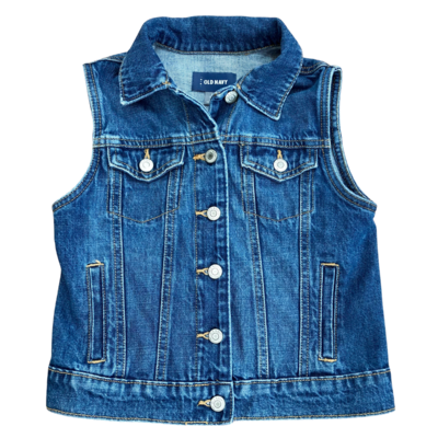Old Navy Denim 4 Pocket Vest Youth Large