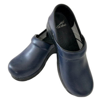 Dansko Leather Slip-On Navy Shoe Women's 37