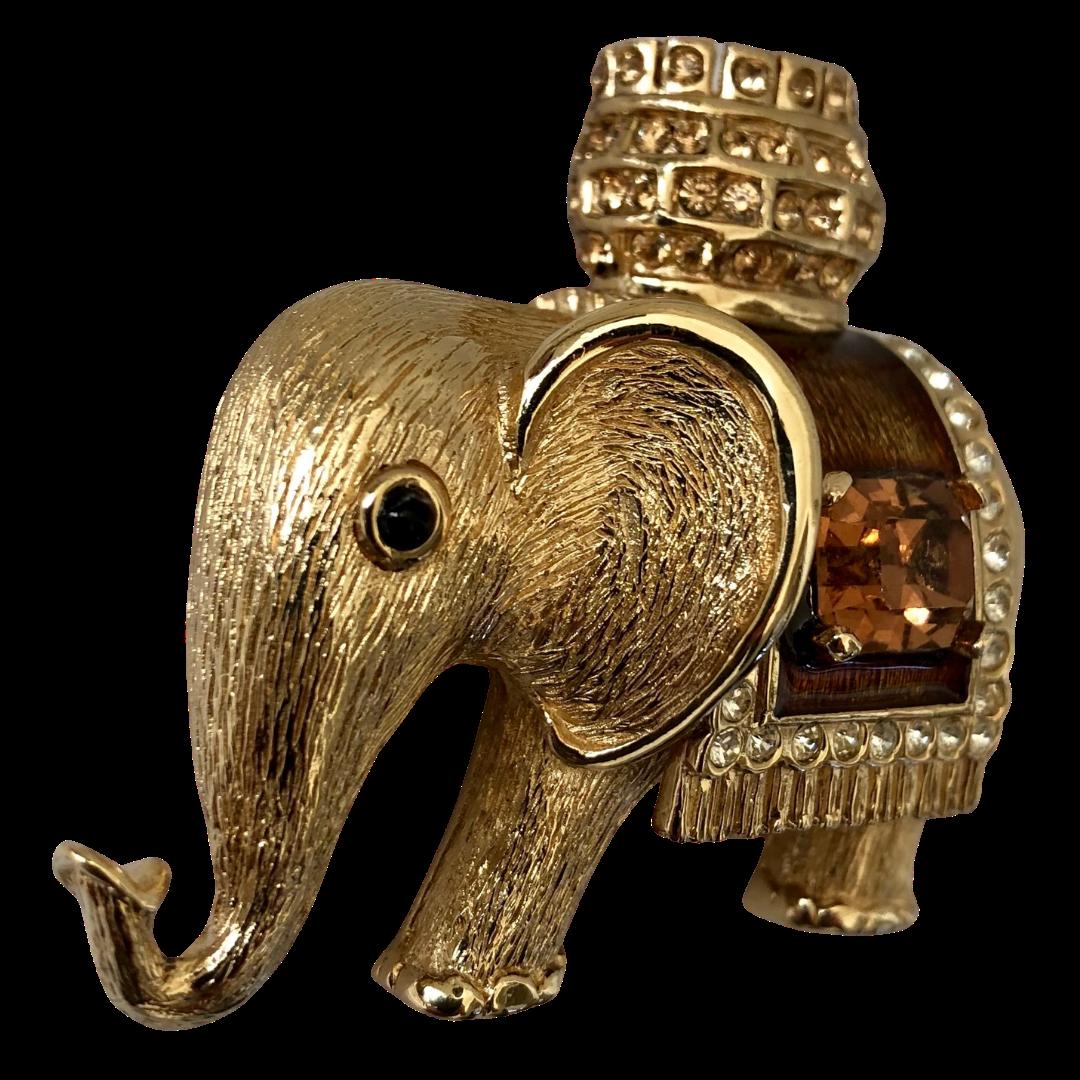 Vintage Ciner Elephant Brooch