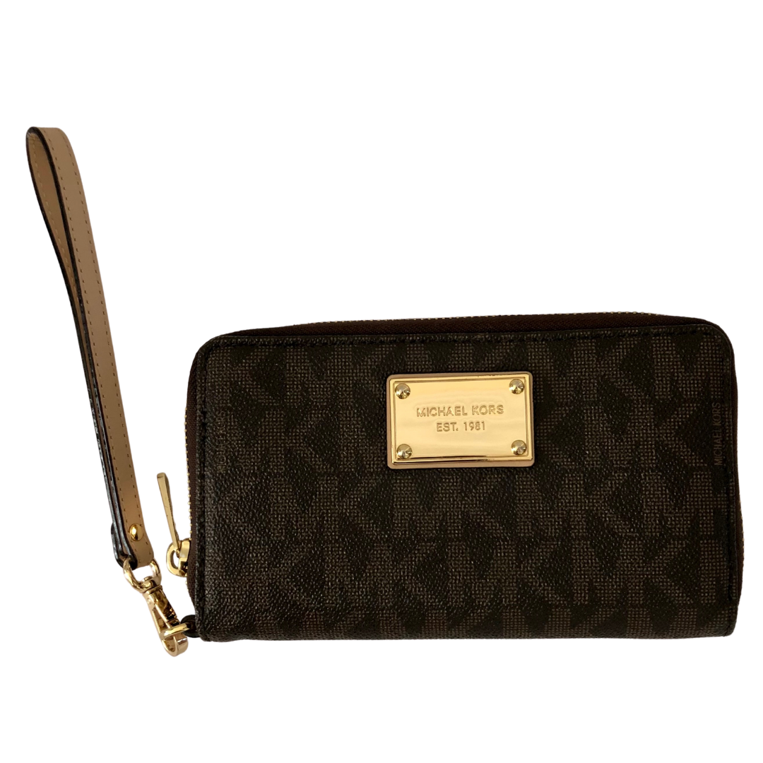 Michael Kors  Brown MK Wallet Wristlet