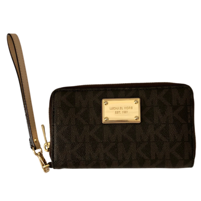 Michael Kors  Brown MK Wallet Wristlet